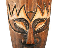 Asian traditional wooden painted brown mask Royalty Free Stock Image