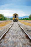 Asian Train at Station. Train moving from Station Royalty Free Stock Image