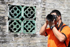 Asian travel photographer Stock Photo