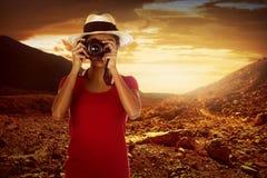 Asian traveler Stock Image