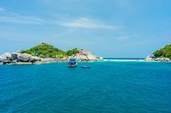 Asian tropical beach paradise at Nang Yuan Island, Thailand Royalty Free Stock Photography