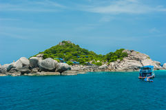 Asian tropical beach paradise at Nang Yuan Island, Thailand royalty free stock photos