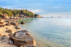 Asian tropical beach paradise in Thailand Royalty Free Stock Photos