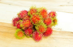 Asian tropical fruit rambutan Stock Photography