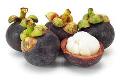 Asian tropical mangosteen fruit Royalty Free Stock Image