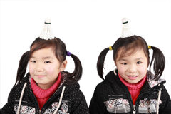 Asian twins girls Stock Photography