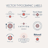 Asian typographic logos Stock Photo