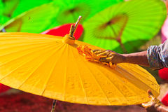 Asian umbrella Stock Photo
