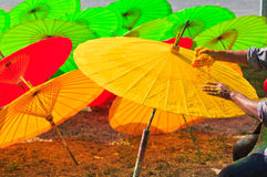 Asian umbrella Royalty Free Stock Photography