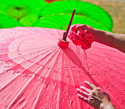 Asian umbrella Royalty Free Stock Image