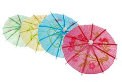 Asian umbrella in a row Stock Image