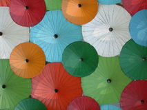 Asian umbrella's. Traditional Thai umbrella's royalty free stock photo