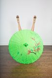 Asian umbrella with sexy legs Stock Photos
