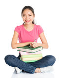 Asian university female student Royalty Free Stock Photography