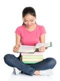 Asian university girl student Stock Photo