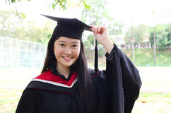 Asian university graduate Stock Photography