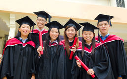 Asian university graduates Royalty Free Stock Image