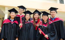 Asian university graduates Royalty Free Stock Image