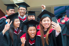 Asian university graduates Royalty Free Stock Photo