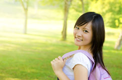 Asian university student Stock Images