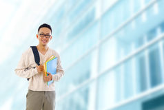Asian university student Royalty Free Stock Photography