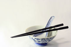 Asian utensils. Standard eating or dinning apparatus used by Asians daily Stock Photos