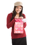 Asian valentine girl Royalty Free Stock Photos