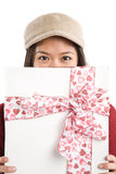Asian valentine girl Stock Images