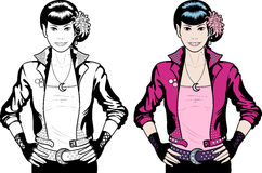 Asian Vampire Punk Rock girl Royalty Free Stock Image