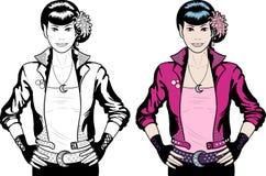 Asian Vampire Punk Rock girl Royalty Free Stock Image