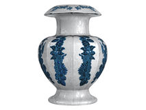 Asian_vase. Rendered 3d isolated asian vase on white background Royalty Free Stock Photos