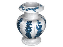 Asian_vase. Rendered 3d isolated asian vase on white background Stock Photo