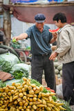 Asian vegetable seller Royalty Free Stock Images