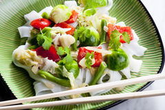 Asian vegetables. On coconut milk Stock Image