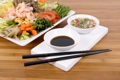 Asian food soy sauce chopsticks Royalty Free Stock Photo