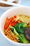 Asian Vegetarian Pork Noodles Royalty Free Stock Images