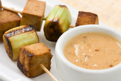 Asian vegetarian Skewers Stock Photography