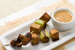Asian vegetarian Skewers Stock Images