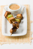 Asian vegetarian Skewers Stock Image