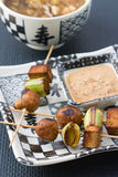 Asian vegetarian skewers Royalty Free Stock Photo
