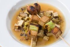 Asian vegetarian Skewers Royalty Free Stock Photography
