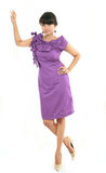 Asian in violate dress. Photograph of asian in violate dress Stock Photography