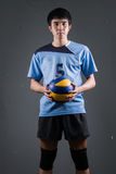 Asian volleyball athlete in action Stock Photos