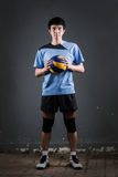 Asian volleyball athlete in action Royalty Free Stock Photos