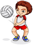 An Asian volleyball player Stock Images