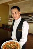 Asian waiter Royalty Free Stock Images