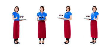 Asian waitress woman  occupation series Royalty Free Stock Images