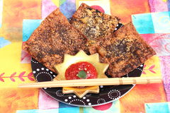 Asian Wan Tan Cracker Stock Photo