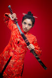 Asian warrior Stock Images