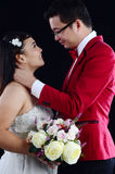 Asian wedding couple Royalty Free Stock Photography